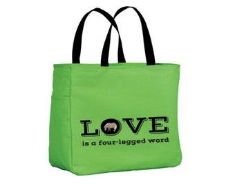SALE Shipping Included - Pony Tote Carry All (Lime)