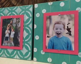 Gallery Wall, Set of 2 Frames, Distressed Picture Frames, Photo Collage, 8x10 Frames, Picture Frames