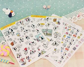 DIY Diary Scrapbook Sticker Label - Cute White Dog