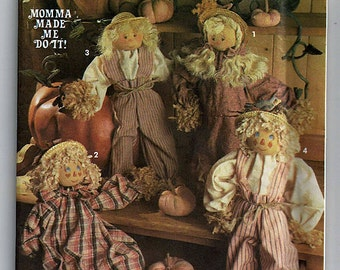 Momma Made Me do It  Scarecrow and clothes / Original Simplicity Crafts Uncut Sewing Pattern 8022