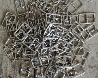 OOPS 50pc Small Buckles, Oops Buckles, 20x13mm NEW, Bracelet Buckle, Shiny Silver Buckle, Jewelry Making, DIY, Craft Supplies