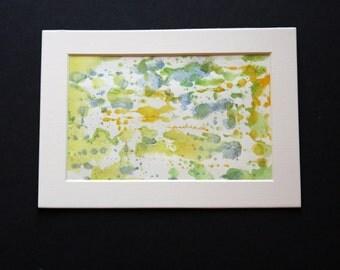 Ocean Splash - Abstract Watercolor -