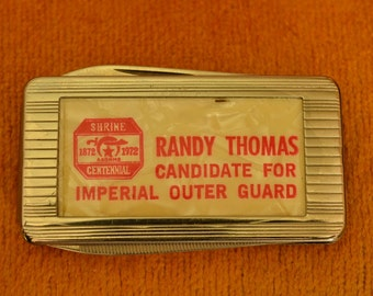 Shriner Political Money Clip Knife