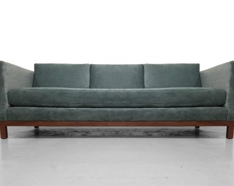 Mid Century Modern Tuxedo Sofa by Milo Baughman for Thayer Coggin