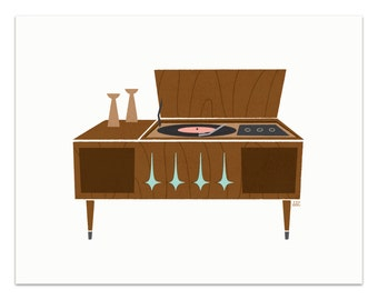 Record Player - Sideboard Art Print