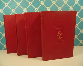 Red Romance Books Emilie Loring Set Of 4 Book Decor Vintage 1940s