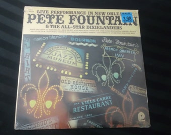 """Pete Fountain & The All-Star Dixielanders - Live Performance In New Orleans - CAS 727 - 12"""" vinyl lp, reissue (Pickwick Records,197?) Sealed"""