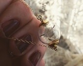 MAKE A WISH : 14 kt gold filled wish dandelion seed necklace