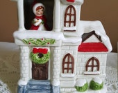 Vintage - Christmas Music House - Ceramic - Collectors - White Christmas - Japan