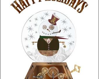 Printable Snowman Winter Holiday Card