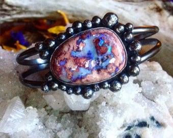 Opal bubble cuff bracelet