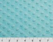 Cuddle Dimple Saltwater Blue - Minky Dots - Shannon Fabrics - 1 Yard