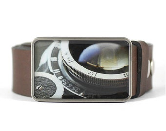 Retro Camera Belt Buckle, Photographer's belt buckle, gift for him, men's belt buckle, photographer gift idea