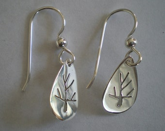 Sterling Silver Tree of Life Earrings sawed by hand