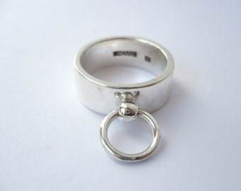 sterling silver ring O