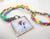 Rainbow Dash Tile Necklace - My Little Pony Friendship Is Magic