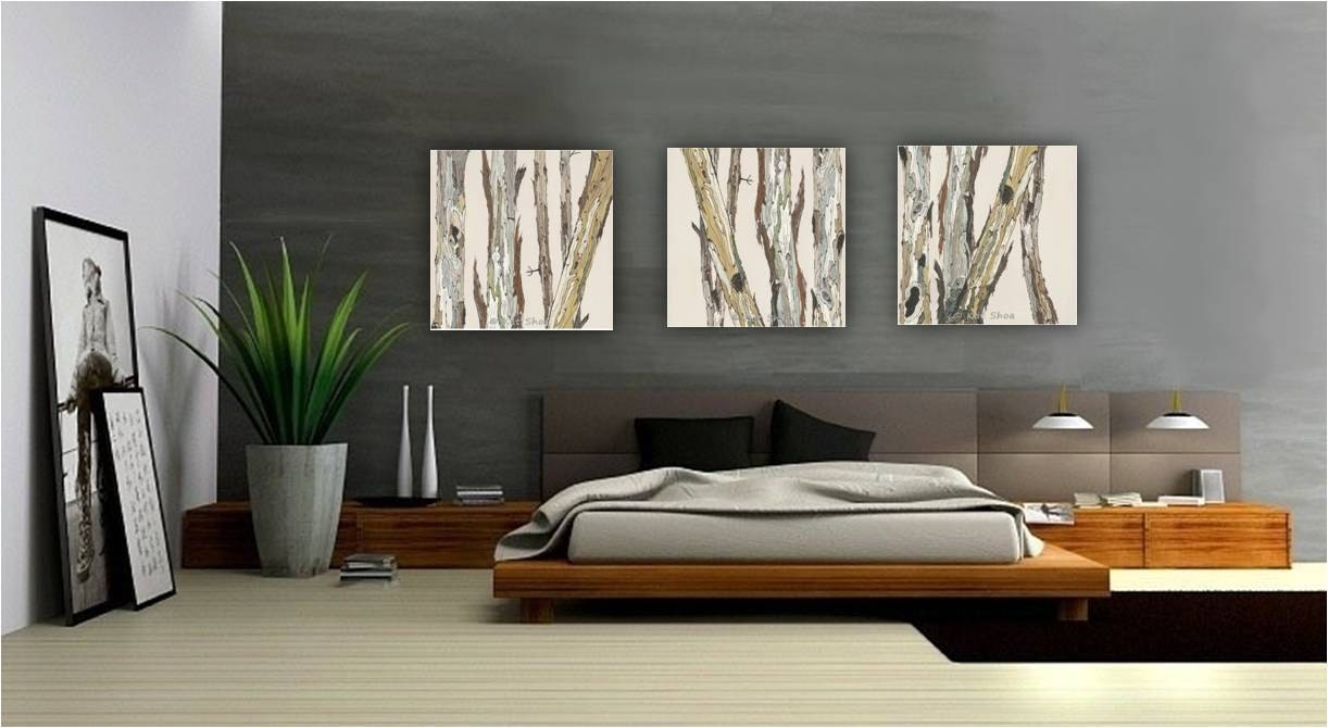Extra large wall art oversized triptych set dining room for Big wall art