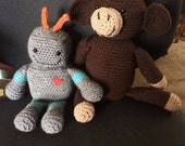 Custom Listing: Robot and Monkey for Michelle