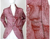 """Reserved - Vintage JEAN PAUL GAULTIER Face Optical Illusion """"Cyberbaba"""" Blazer Jacket"""