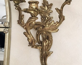 A pair of Brass Louis XV Style, Three-Light Candle Wall Sconces very similiar to Glo-Mar Artworks - Local Pick Up
