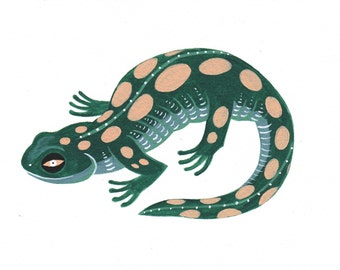 Salamander - Original Painting by Lisa Vanin