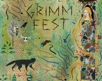 GrimmFest Poster - Original painting by Lisa Vanin
