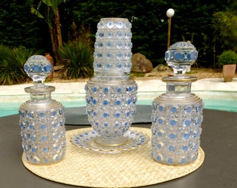 Art Glass carafe and decaters by Baccarat France & Moser Karlsbad - 7-pc