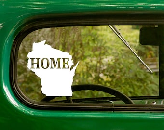 Wisconsin State Decal, Car Decal, State Sticker, Laptop Sticker, Wisconsin Sticker, Bumper sticker, Vinyl Decal, Car Stickers