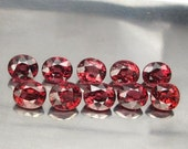 RESERVED 15.48 ct  10 Pcs Natural Garnet Pink Reddish Unheated Made To Order Necklace Silver 925