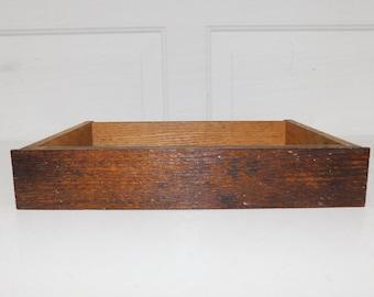 Antique Wood Drawer Wood Crate Box Display Box