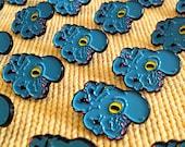 Octopus Enamel Pin (Blue) - soft enamel pin, lapel pin, badge, enamel jewelry, kawaii octopus, cloisonne pins, brooch
