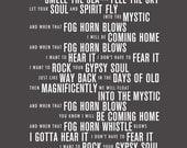 Into the Mystic - Van Morrison Lyrics Typography Print