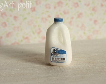 Gallon of milk for dollhouse scale.