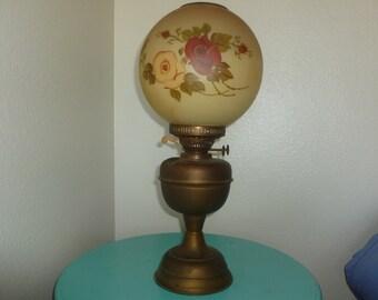 Vintage Duplex Oil Lamp