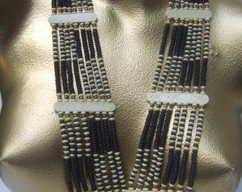 Exotic Wood Beaded Tribal Style Necklace