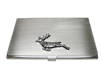 Leaping Deer Business Card Holder