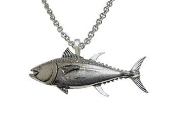 Tuna Fish Pendant Necklace