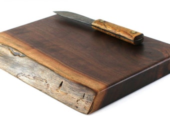 "Rustic Cheese Board - Black Walnut - Ready to Ship - 12""x9-1/2""x1-1/4"""