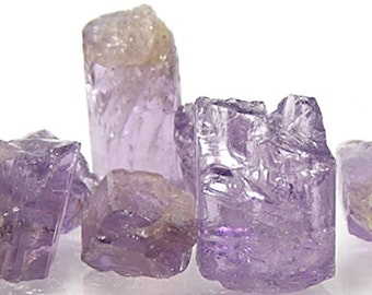 Purple Scapolite Gemstone Rough Raw Crystal Points for Jewelry Wrapping Stones