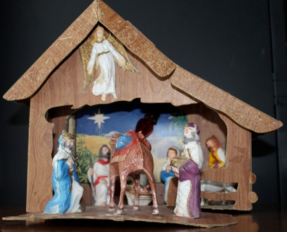 Vintage nativity scene baby jesus christmas by for Baby jesus christmas decoration