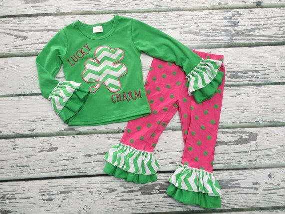 Items similar to Baby Girls St Patrick s Day Outfit St