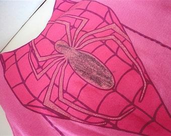 ON SALE 50% OFF Pink Spiderman   Bag, Reusable Cloth Market Bag
