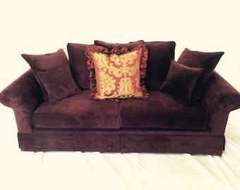 Dark Aubergine Purple Rain Sofa