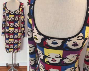 Betsey Johnson-Warhol Marilyn iconic wink print dress