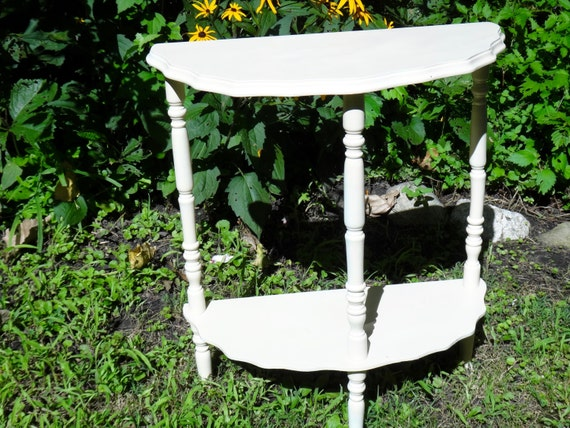 demi lune table half moon table half round table scallop. Black Bedroom Furniture Sets. Home Design Ideas