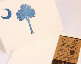 Letterpress Palmetto Card