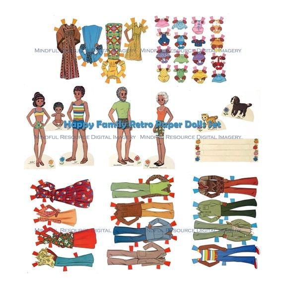 Printable Paper Dolls Happy Family Paper Dolls Retro
