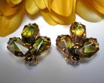 D&E aka Juliana Topaz Givre Clip Earrings   Item: 16131