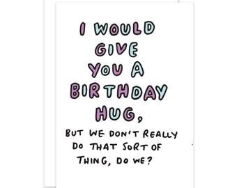 Birthday Hug Funny Card