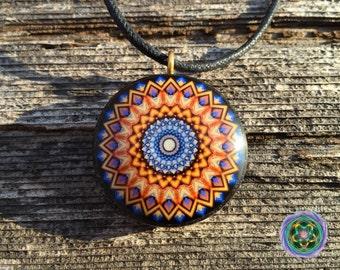 Orgone Fractal Mandala Pendant feat. Artist Marc Eden - EMF Blocker - Chakra Balancing - FREE Necklace - Hand Made